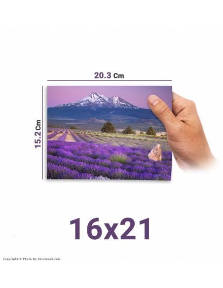 سفارش آنلاین چاپ عکس سایز  21*16 با امکان طراحی آنلاین روی عکس