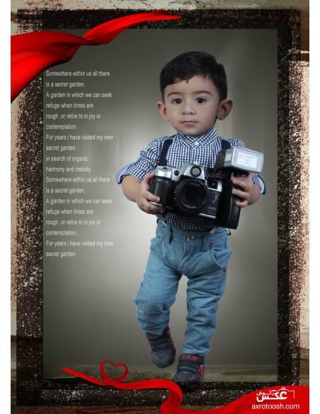 دانلود PSD طرح لایه باز مخصوص عکاسی کد 6060