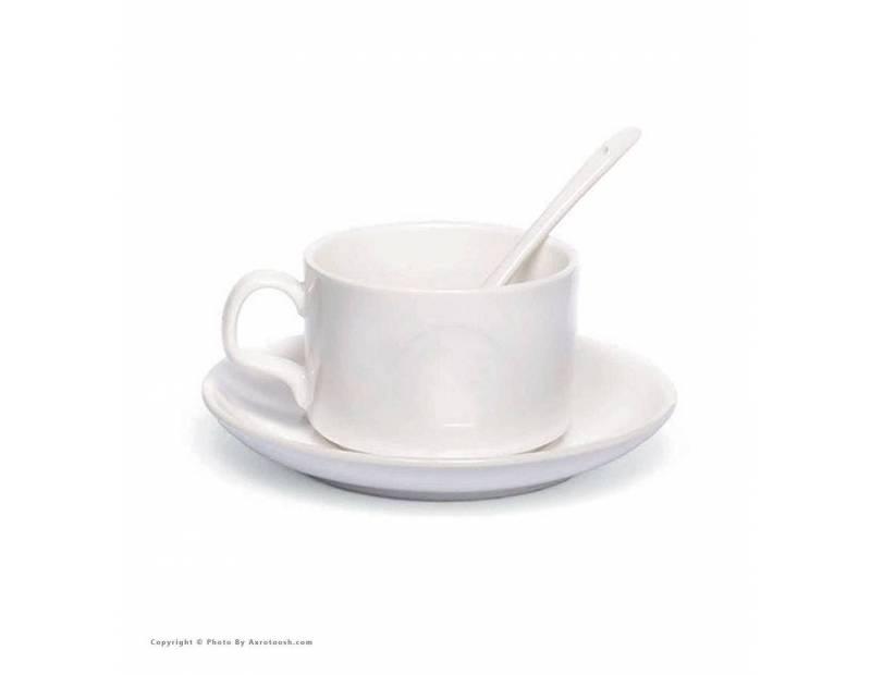طراحی آنلاین و چاپ عکس روی فنجان و نعلبکی سرامیکی سفید