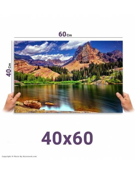 سفارش آنلاین چاپ عکس سایز 60*40 با امکان طراحی آنلاین روی عکس