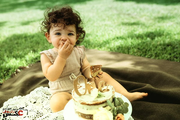عکاسی از کودک با خوراکی
