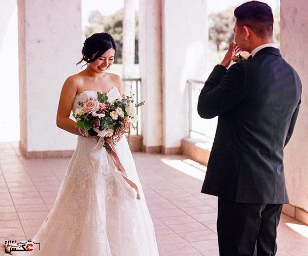 عکاسی از عروس و داماد در اولین دیدار