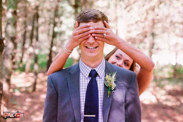 عکاسی از لحظات مختلف عروس و داماد
