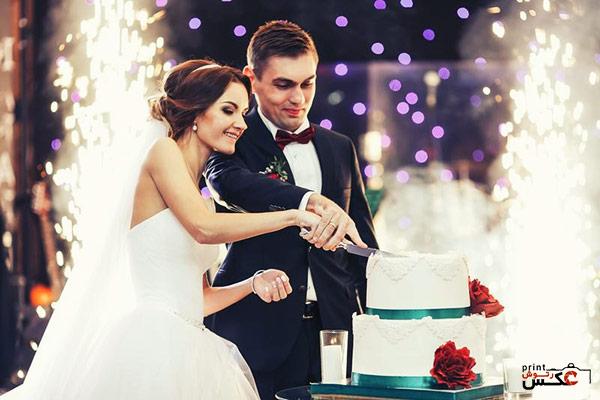 عکاسی از بریدن کیک در عروسی