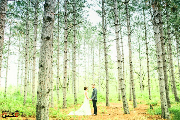 عکس عروسی بازاویه دید عریض